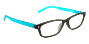 Polinelli P200 Women leesbril - Black and Aqua