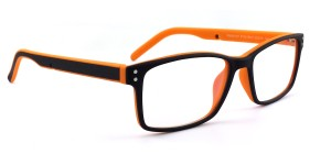 Polinelli P100 Men leesbril - Black and Orange +3.00