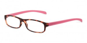 Looplabb Leesbril l'estranger turtle/deep pink